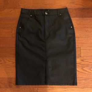 MINKPINK Coated Denim Skirt